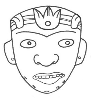 Mayan masks template new calendar template site for Aztec mask template